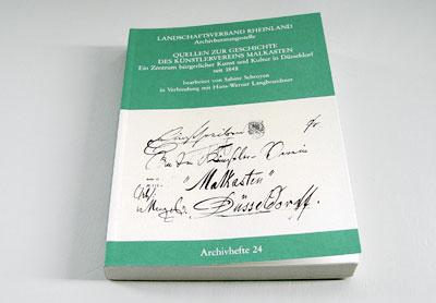 Quellen zur Geschichte des Künstlerverein Malkasten
